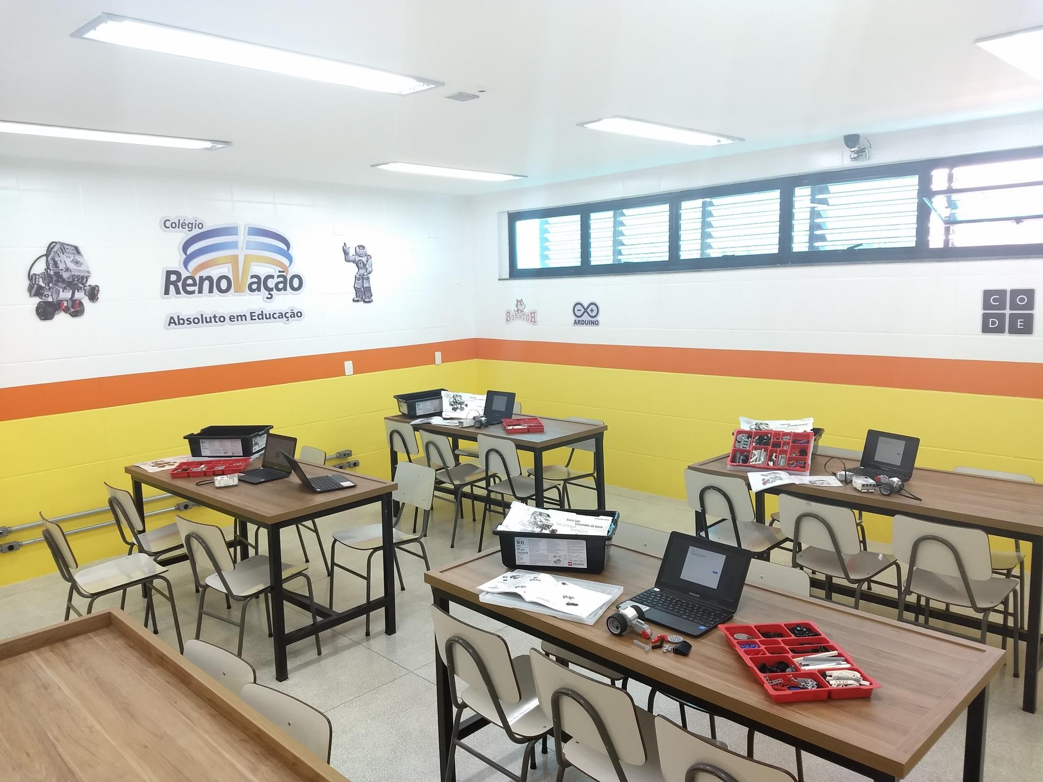Sala de Robótica e Maker - Unidade 3 - Colégio Renovação